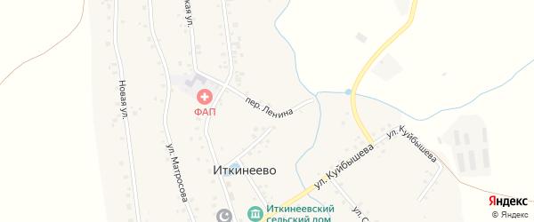 Переулок Ленина на карте села Иткинеево с номерами домов
