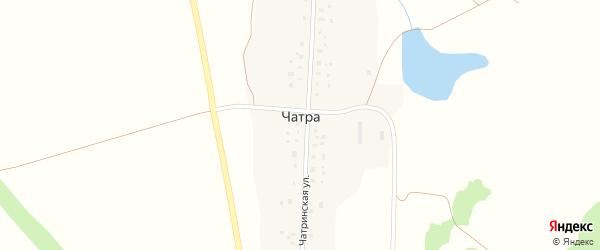 Чатринская улица на карте деревни Чатры с номерами домов