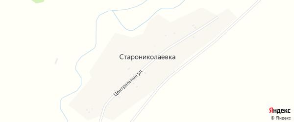 Центральная улица на карте деревни Старониколаевки с номерами домов