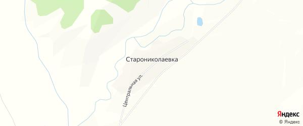 Карта деревни Старониколаевки в Башкортостане с улицами и номерами домов