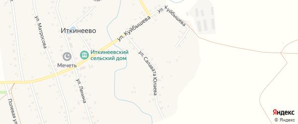Улица С.Юлаева на карте села Иткинеево с номерами домов