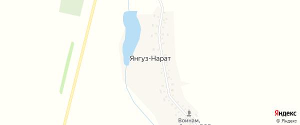 Улица 55 лет Победы на карте деревни Янгуза-Нарата с номерами домов