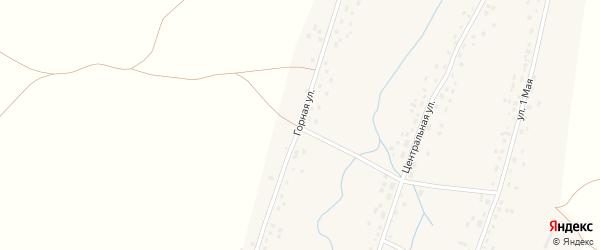 Горная улица на карте села Анясево с номерами домов