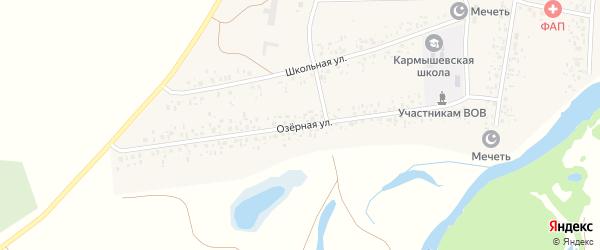 Озерная улица на карте села Кармышево с номерами домов