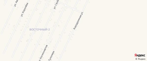Аэродромная улица на карте Янаула с номерами домов