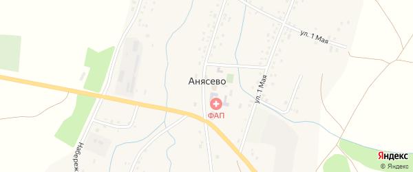 Луговая улица на карте села Анясево с номерами домов