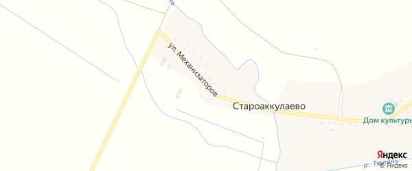Улица Механизаторов на карте деревни Староаккулаево с номерами домов