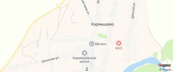 Трактовая улица на карте села Кармышево с номерами домов