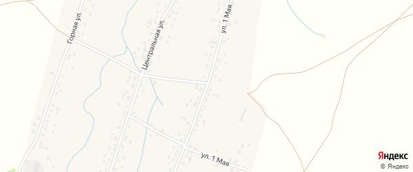 1 Мая улица на карте села Анясево с номерами домов