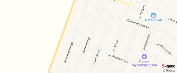 Сиреневая улица на карте Давлеканово с номерами домов