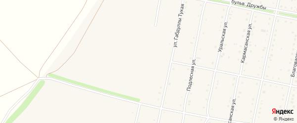 Улица Генерала Шаймуратова на карте села Языково с номерами домов