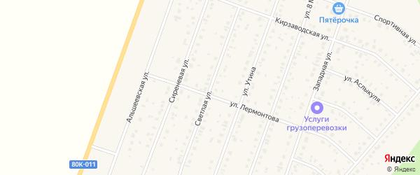 Светлая улица на карте Давлеканово с номерами домов