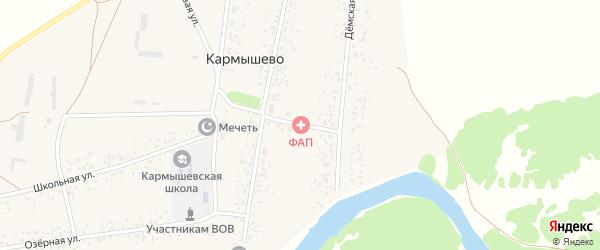 Нижний переулок на карте села Кармышево с номерами домов