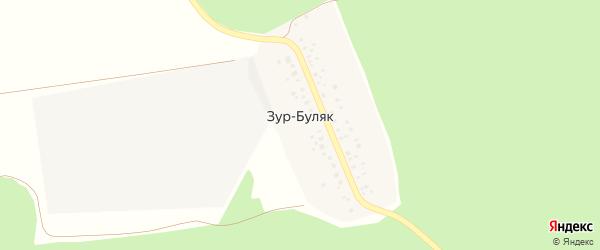 Зур-Булякская улица на карте деревни Зура-Буляка с номерами домов