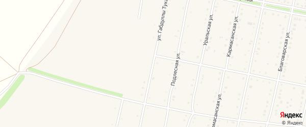 Габдуллы Тукая улица на карте села Языково с номерами домов