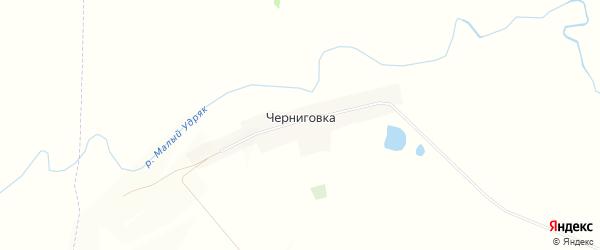 Карта деревни Черниговки в Башкортостане с улицами и номерами домов