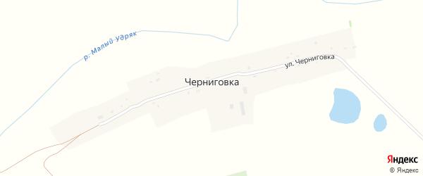 Улица Черниговка на карте деревни Черниговки с номерами домов