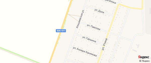Альшеевская улица на карте Давлеканово с номерами домов