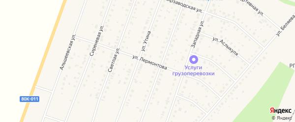 Улица Лермонтова на карте Давлеканово с номерами домов