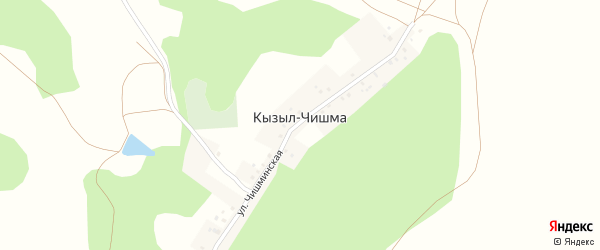 Кызылчишминская улица на карте деревни Кызыла-Чишма с номерами домов