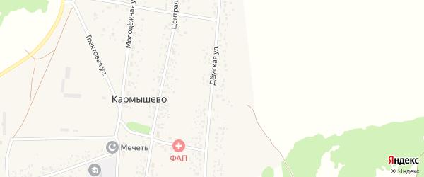 Демская улица на карте села Кармышево с номерами домов