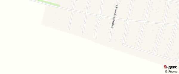 Рощинская улица на карте села Языково с номерами домов