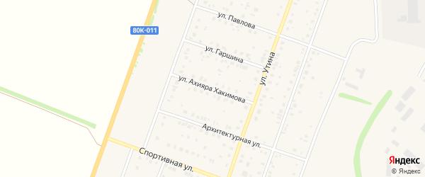 Улица Ахияра Хакимова на карте Давлеканово с номерами домов