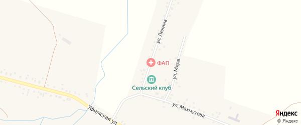 Улица Ленина на карте села Юкаликулево с номерами домов