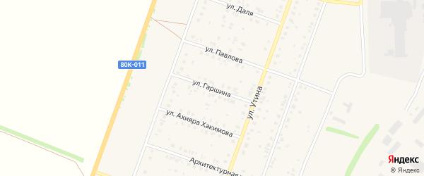 Улица Гаршина на карте Давлеканово с номерами домов