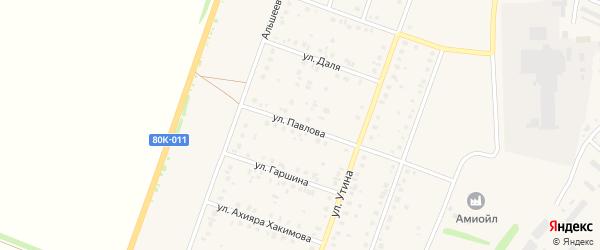 Улица Павлова на карте Давлеканово с номерами домов