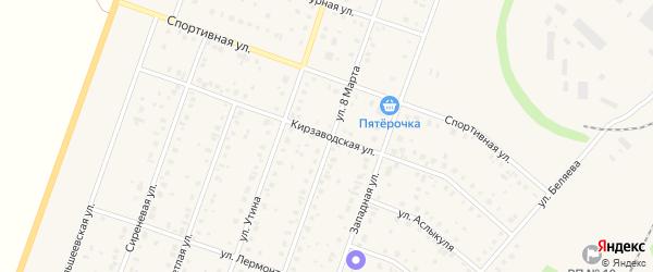 Кирзаводская улица на карте Давлеканово с номерами домов