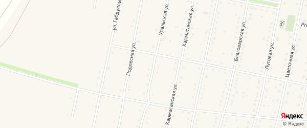 Уральская улица на карте села Языково с номерами домов