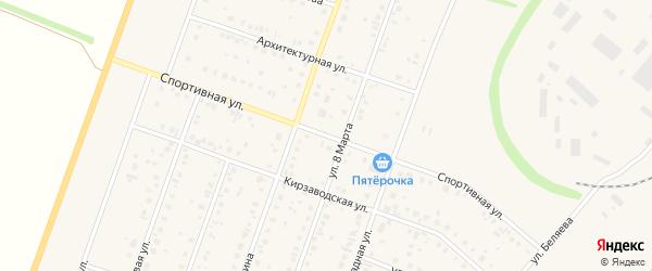 Спортивная улица на карте Давлеканово с номерами домов
