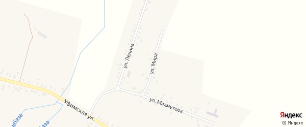 Улица Мира на карте села Юкаликулево с номерами домов