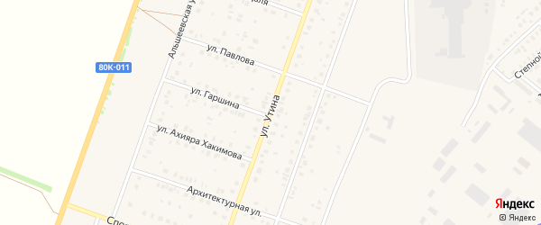 Улица Утина на карте Давлеканово с номерами домов