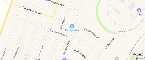 Западная улица на карте Давлеканово с номерами домов
