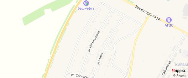 Улица Космонавтов на карте Давлеканово с номерами домов