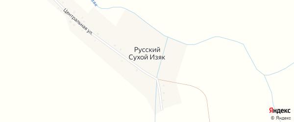 Центральная улица на карте деревни Русского Сухого Изяка с номерами домов