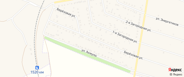 Березовая улица на карте Давлеканово с номерами домов