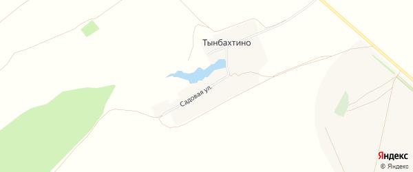 Карта деревни Тынбахтино в Башкортостане с улицами и номерами домов
