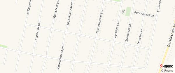 Улица Роберта Гесслера на карте села Языково с номерами домов