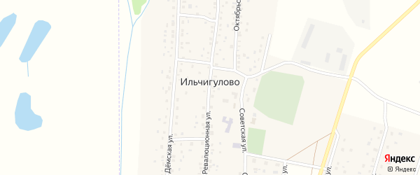 Октябрьская улица на карте села Ильчигулово с номерами домов