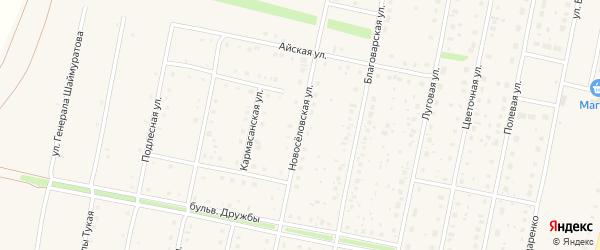 Новоселовская улица на карте села Языково с номерами домов