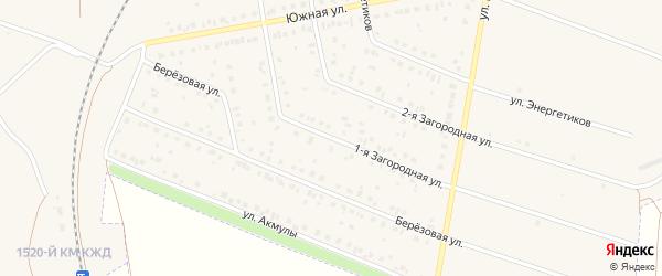 Первая Загородная улица на карте Давлеканово с номерами домов