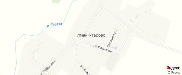 Солнечная улица на карте села Имай-Утарово с номерами домов