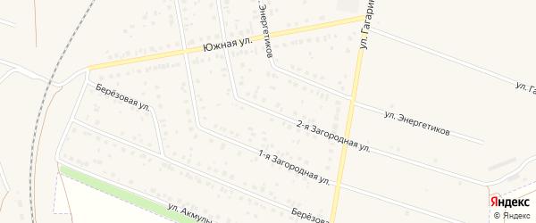 Вторая Загородная улица на карте Давлеканово с номерами домов