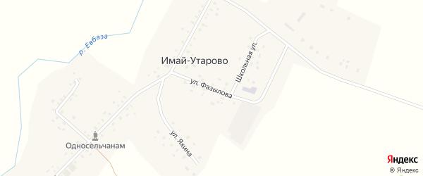 Улица Фазылова на карте села Имай-Утарово с номерами домов