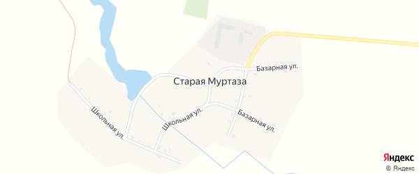 Базарная улица на карте деревни Старой Муртазы с номерами домов