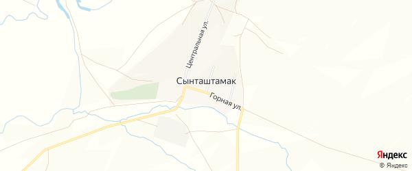 Карта села Сынташтамака в Башкортостане с улицами и номерами домов