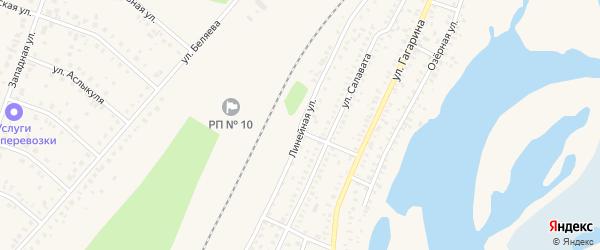 Линейная улица на карте Давлеканово с номерами домов